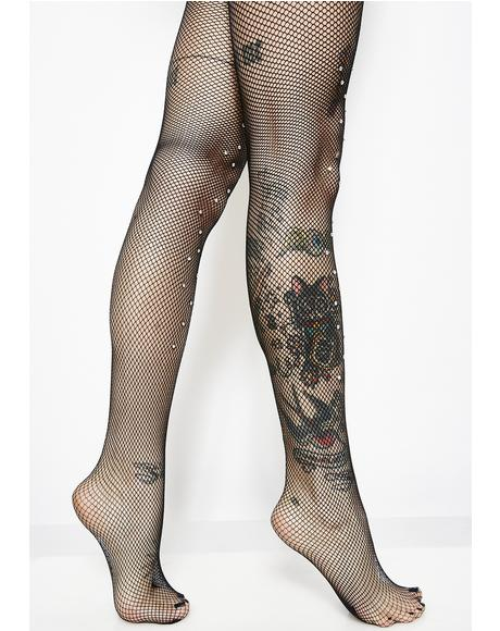 Jewel Thief Rhinestone Tights