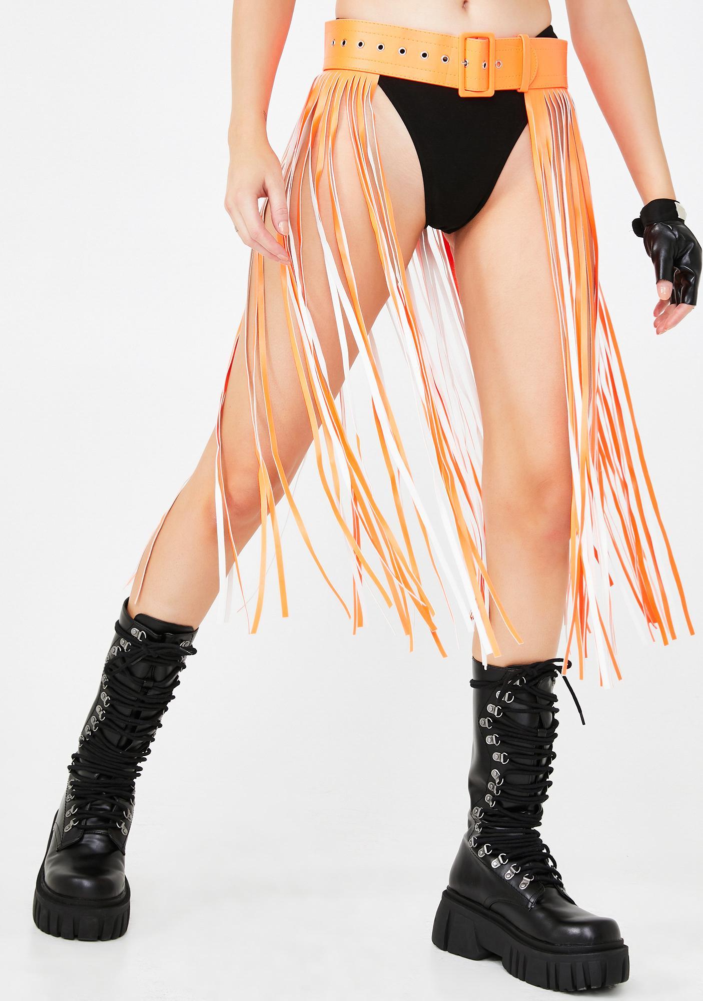 Neon Dimension Fringe Belt