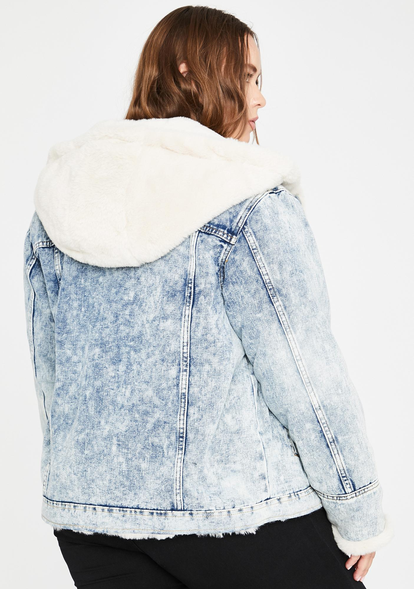 Servin' Enough Fluff Denim Jacket