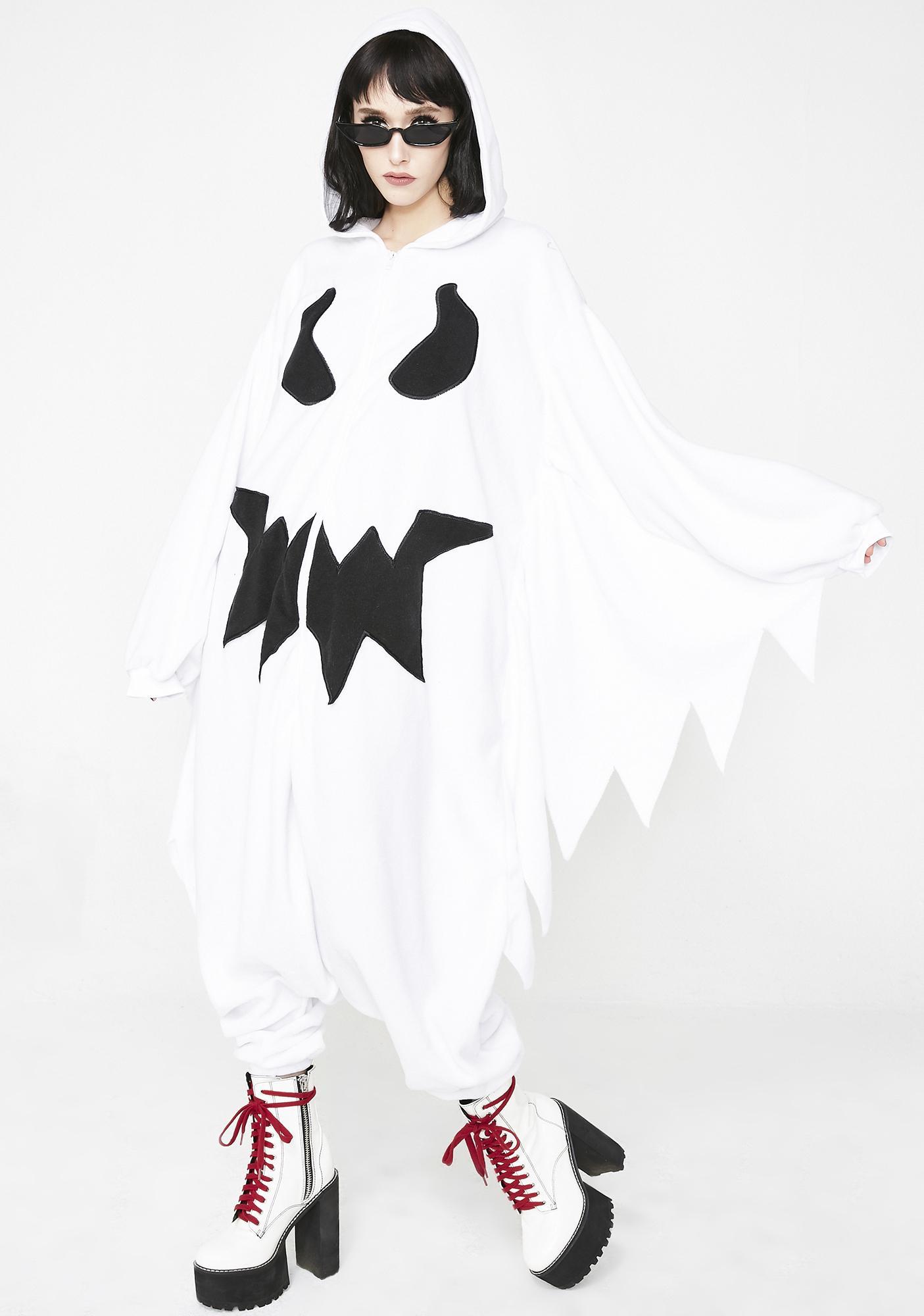12b489cbb469 Halloween Ghost Onesie Costume | Dolls Kill