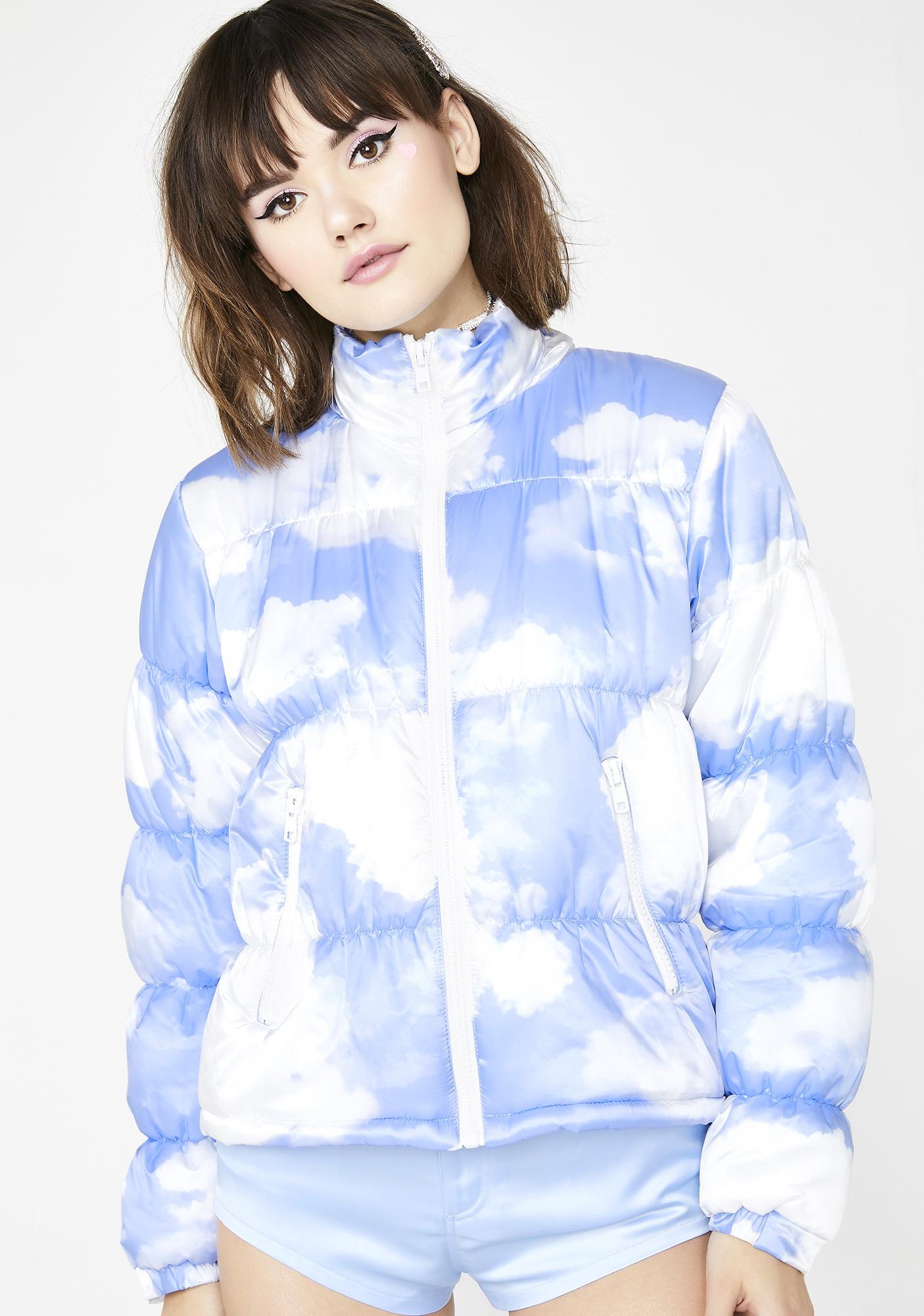 Sugar Thrillz Cloudy Skies Puffer Jacket