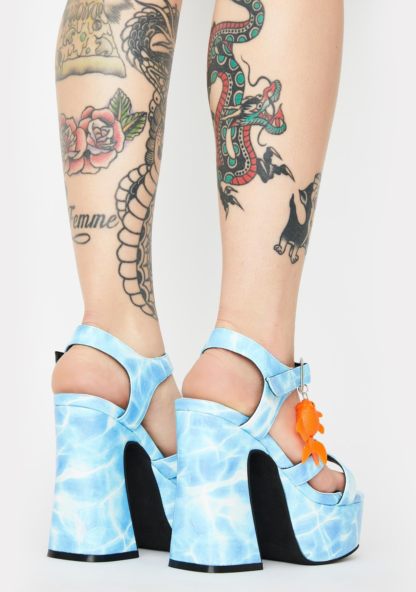 dELiA*s by Dolls Kill Fish Outta Water Platform Heels