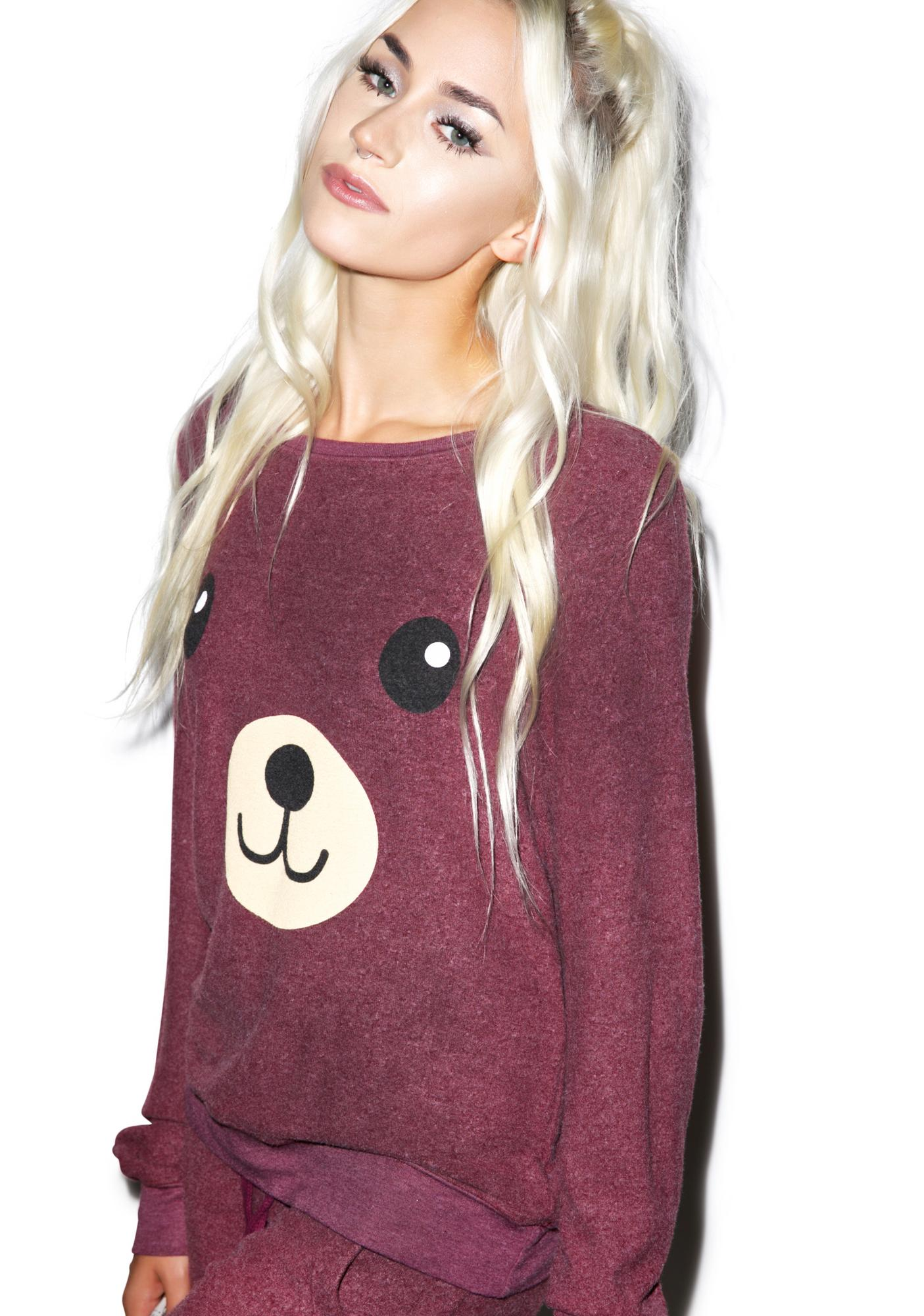 Wildfox Couture Teddy Girl Baggy Beach Jumper