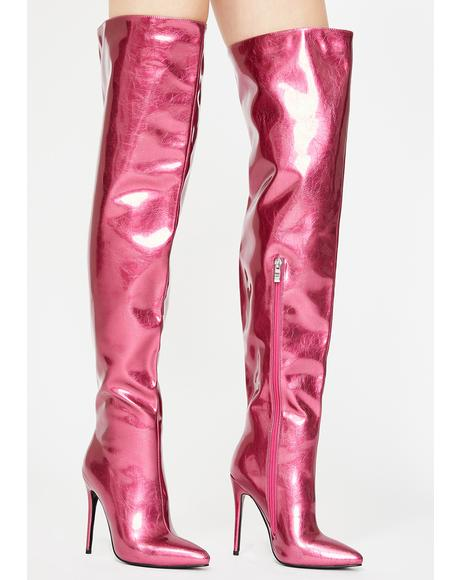 Priscilla Thigh High Boots