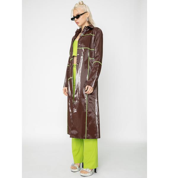 I AM GIA Chocolate Callisto Vinyl Coat
