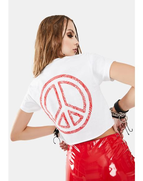 Bandana Peace Crop Tee