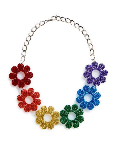 Glitter Flower Power Choker