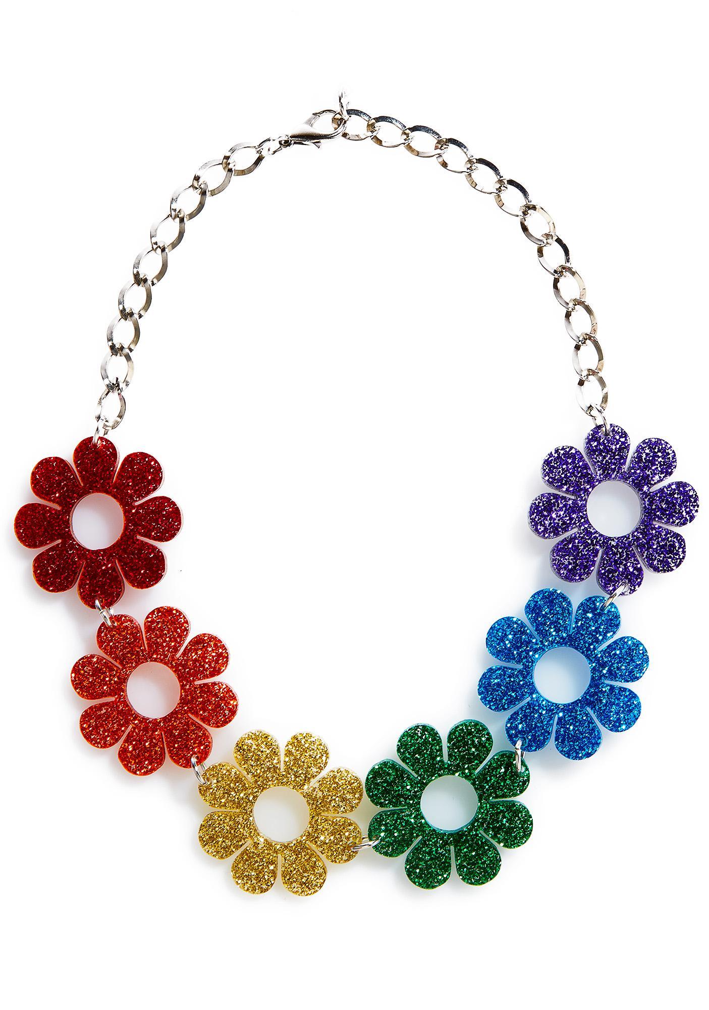 Marina Fini Glitter Flower Power Choker