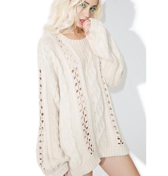 For Love & Lemons Wythe Bell Sleeve Sweater