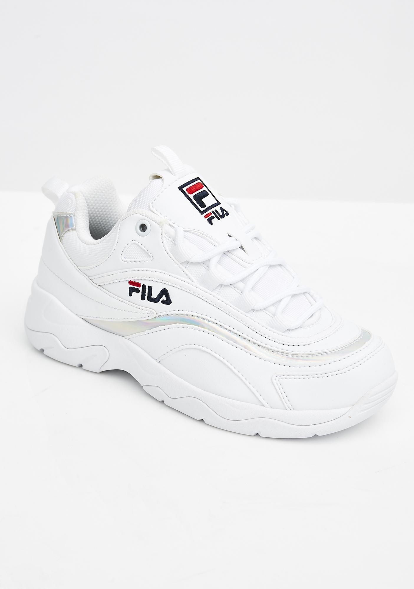 FILA Ray Disruptor 2 White Red Blue, Fila Footwear, New Fila