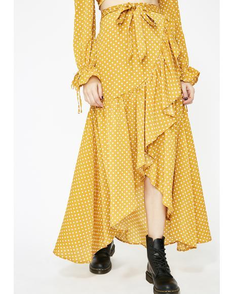 Sunny Prairie Charm Polka Dot Skirt
