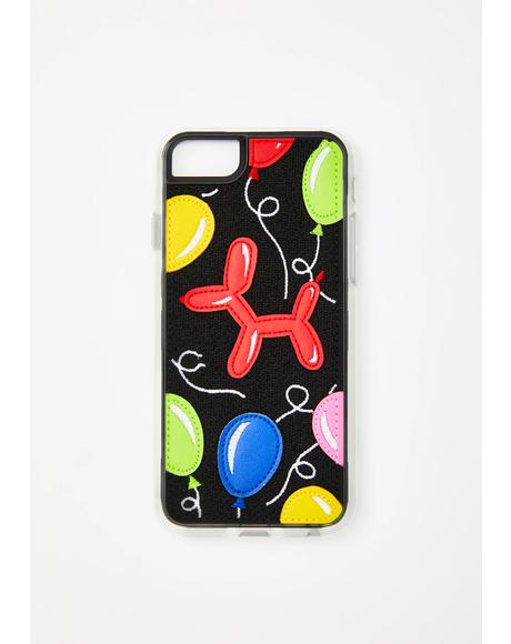 Balloon Embroidered N' Appliqued iPhone Case