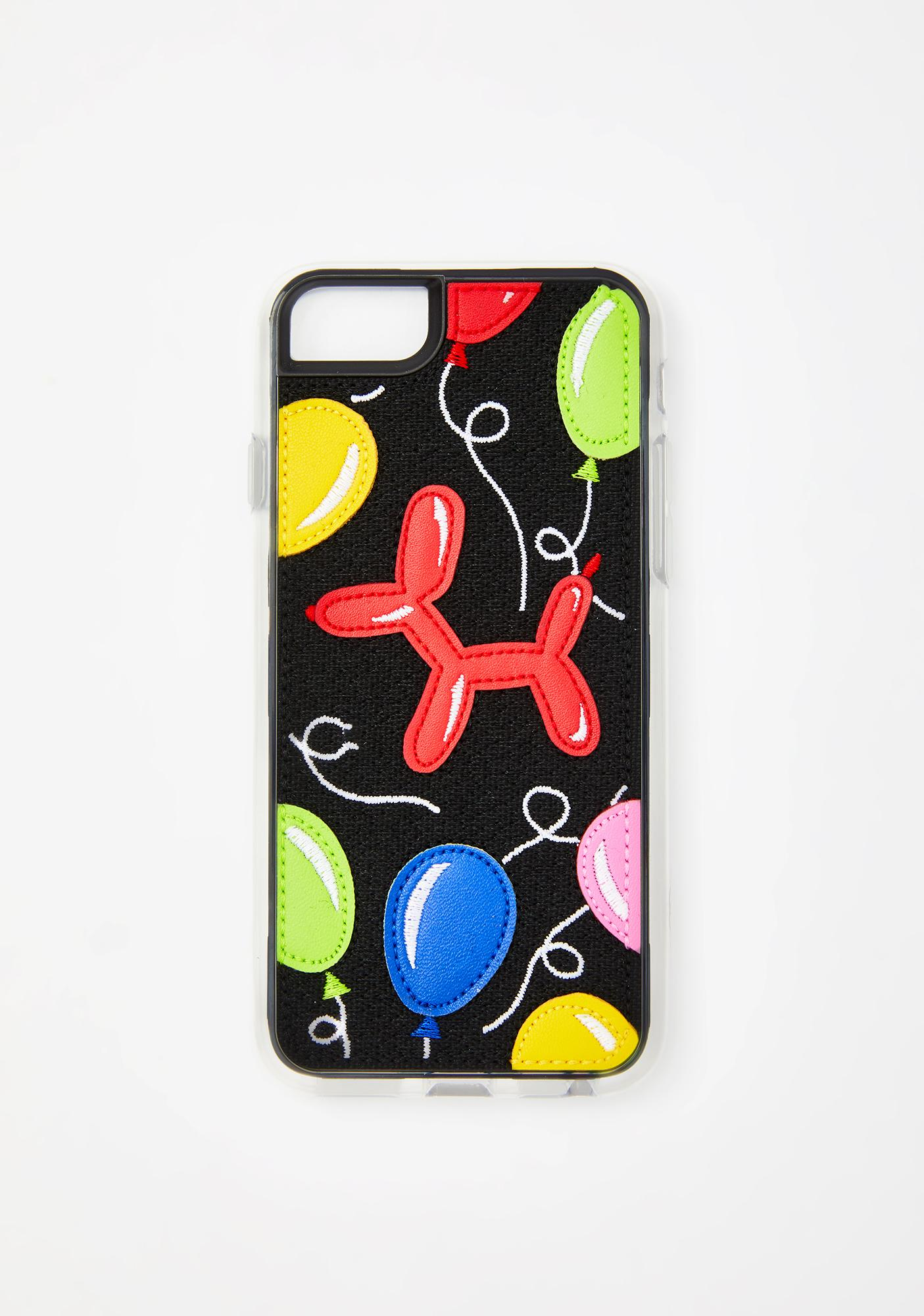 Zero Gravity Balloon Embroidered N' Appliqued iPhone Case