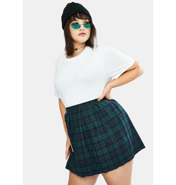 dELiA*s by Dolls Kill Her High School Hexes Plaid Pleated Skirt