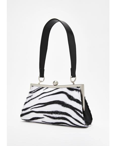 Tween Spotlight Zebra Handbag