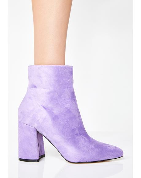 Lilac Alpha Pointed Ankle Boots