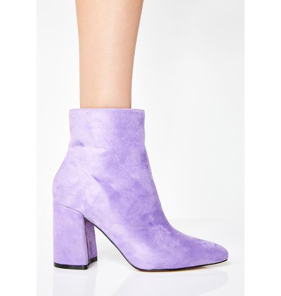Public Desire Lilac Alpha Pointed Ankle Boots