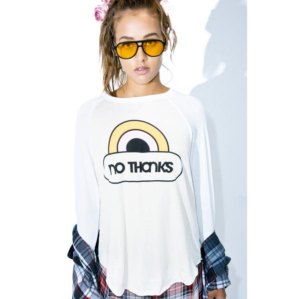 Wildfox Couture No Thanks Rebel Raglan