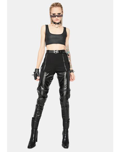 Brutal Babe Vegan Leather Skinny Pants