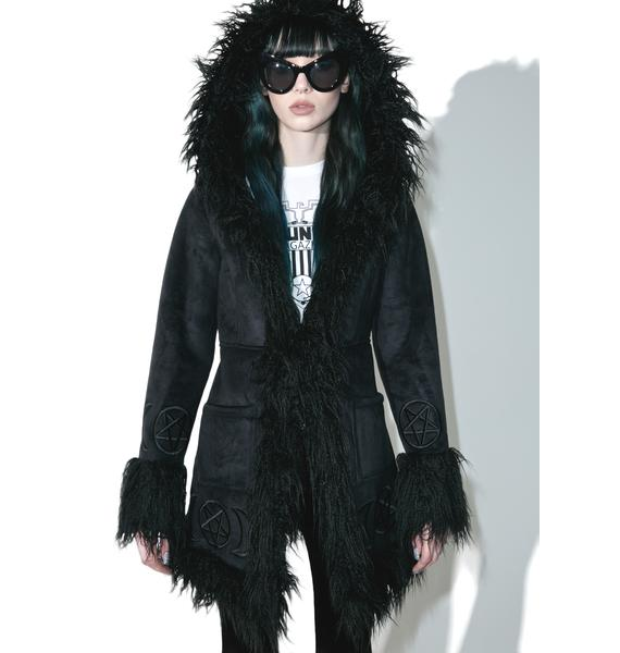 Killstar Die Anna Almost Infamous Shearling Coat