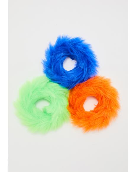 Troll Hair Scrunchies