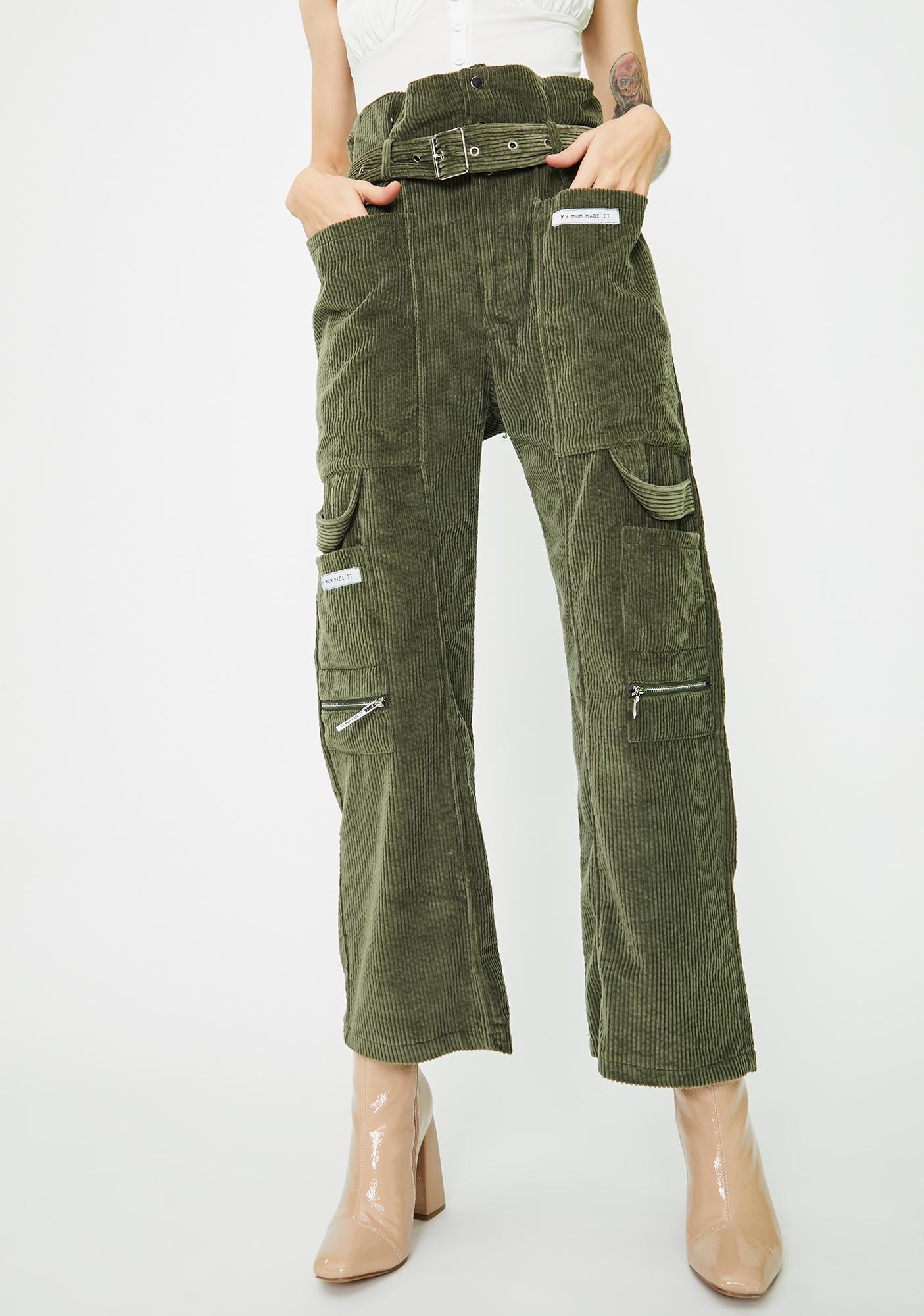 My Mum Made It Corduroy Functional Pants