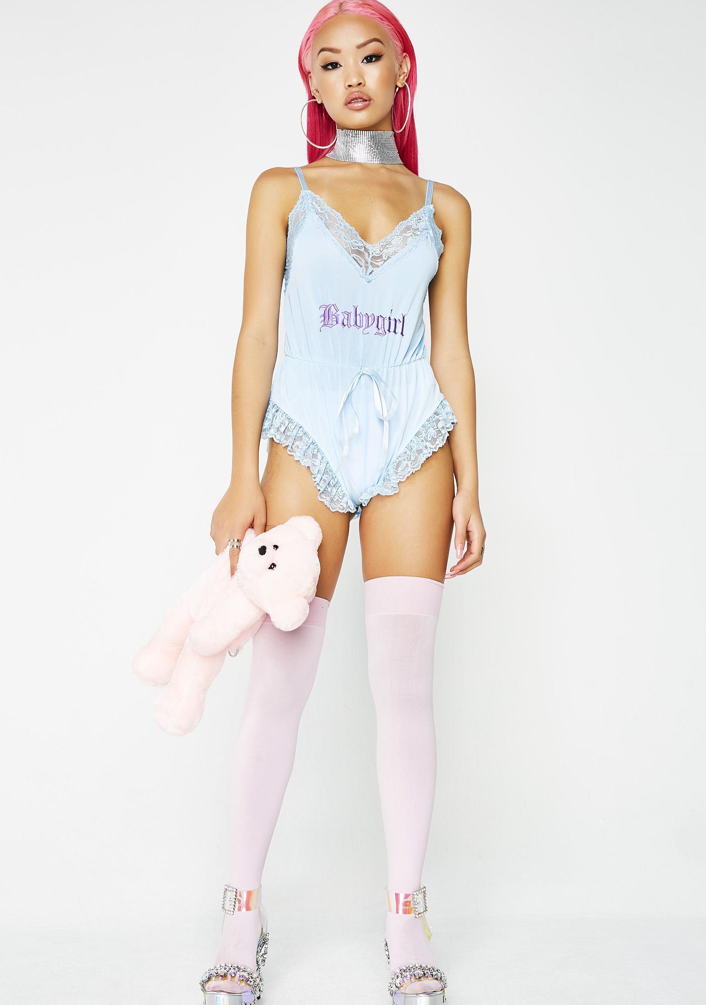 sugar thrillz promiscuous babygirl romper dolls kill