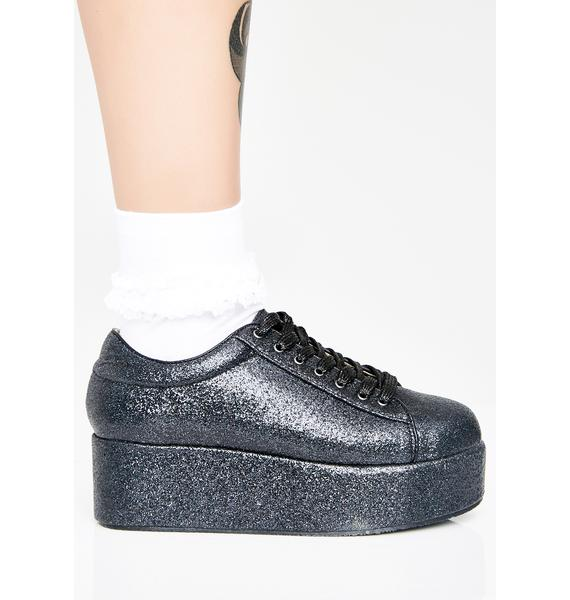 Goth On A Sparkle High Platforms
