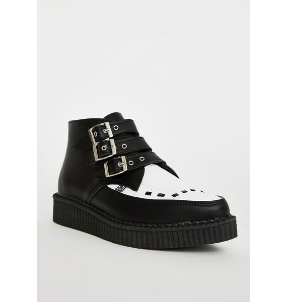 T.U.K. 3-Buckle Pointed Creeper Boots