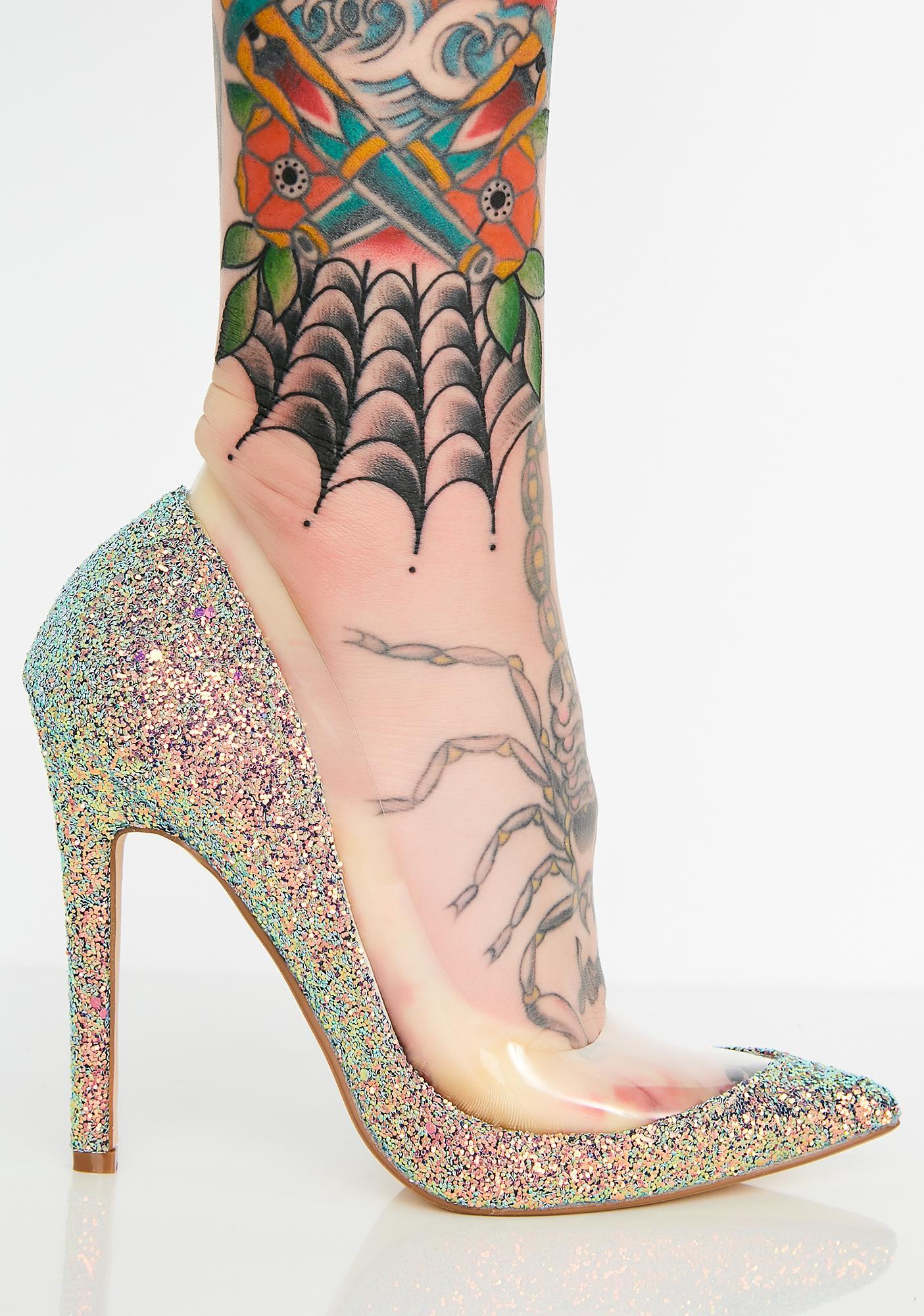 Mermaid Star Of The Show Glitter Pumps