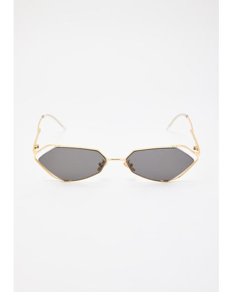 Fever Gold With Smoke Lens Sunglasses