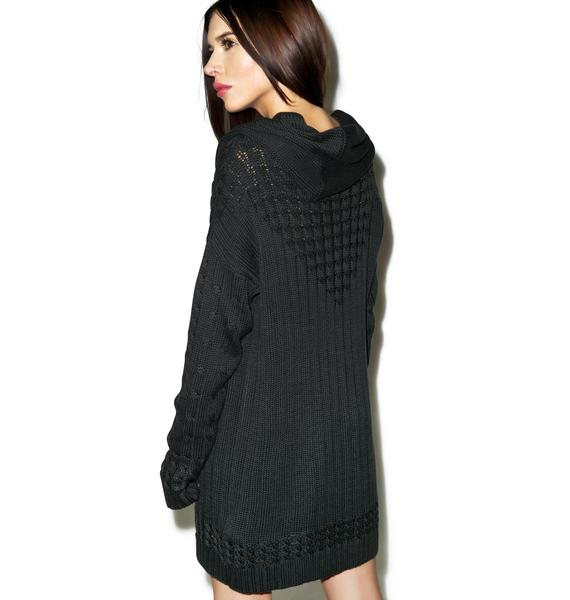 Somedays Lovin Lively Cable Knit Tunic Dress