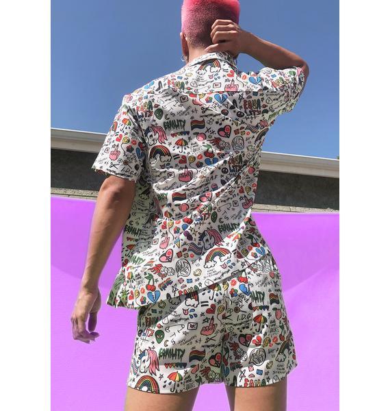 Club Exx Boo Show Ur Pride Button Up Shirt