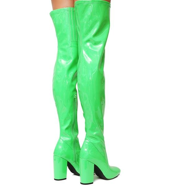 Current Mood Slime Time Thigh High Boots