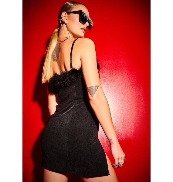 Poster Grl Free Smoke Babygirl Boa Mini Dress