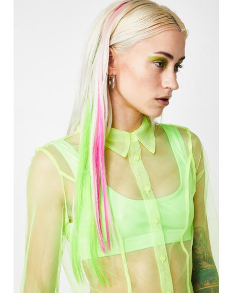 Neon Mixed Clip-In Hair Extensions