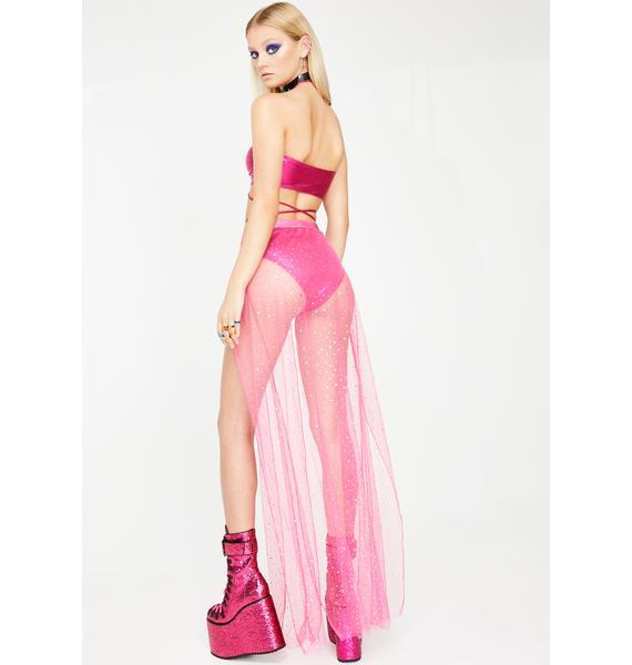 Club Exx Sweeter Beatz Sheer Maxi Skirt