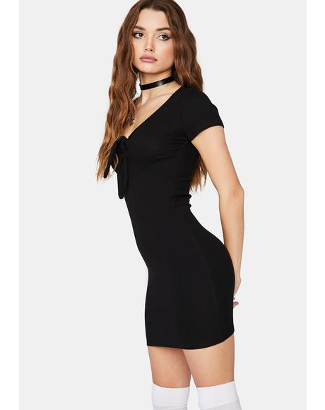 Light It Up Tie Front Mini Dress