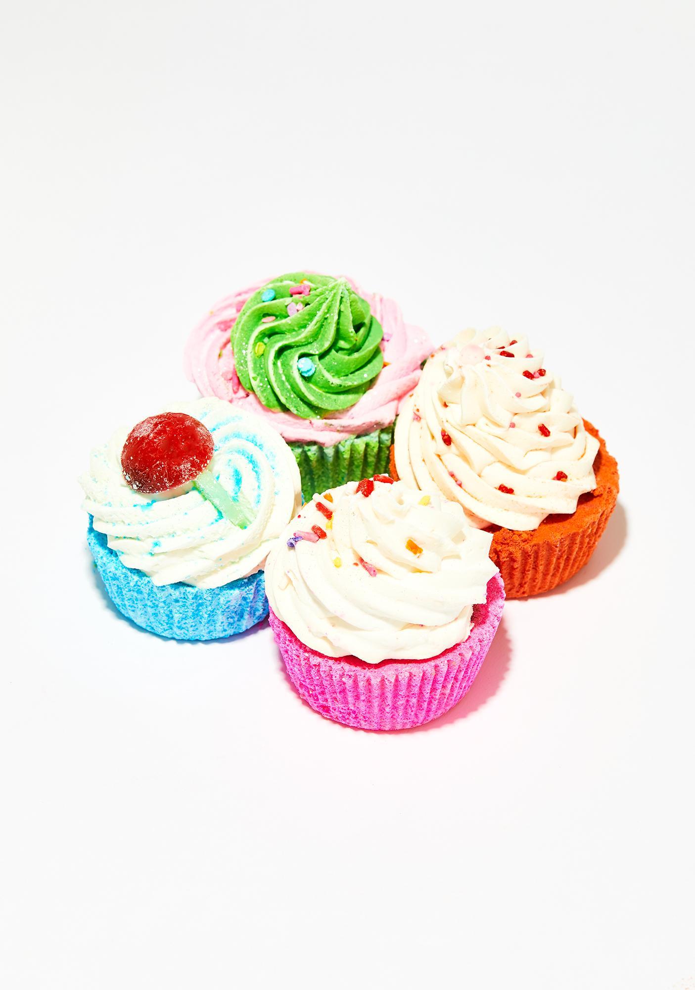 New York's Bathhouse Birthday Cake Butter Cream Cupcake Bath Bomb