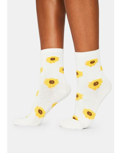 Sunflower Bae Crew Socks