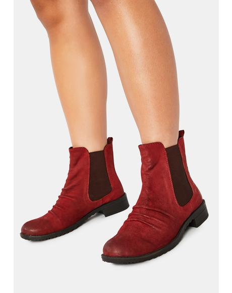 Red Trail Nubuck Chelsea Boots