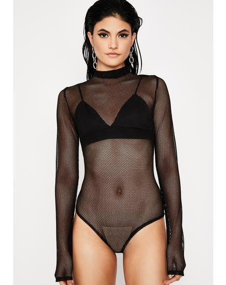 Lunar Electric Ego Fishnet Bodysuit