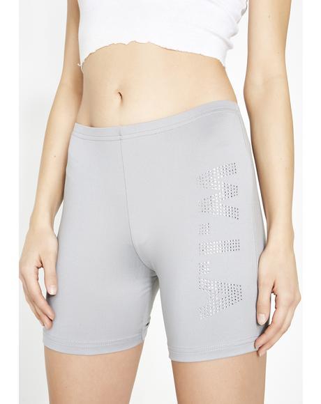 Stoned Perturbed Biker Shorts
