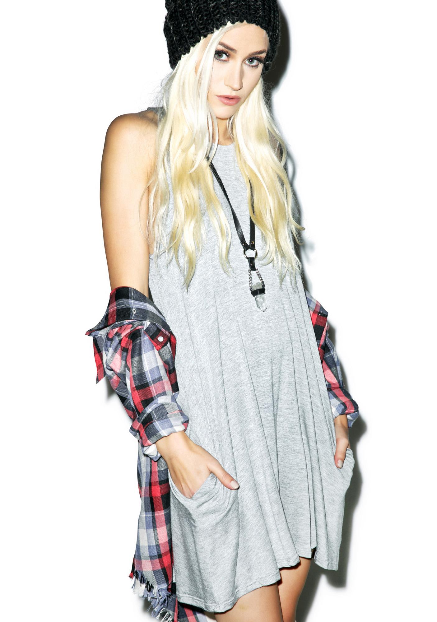 Gray Area Tank Dress