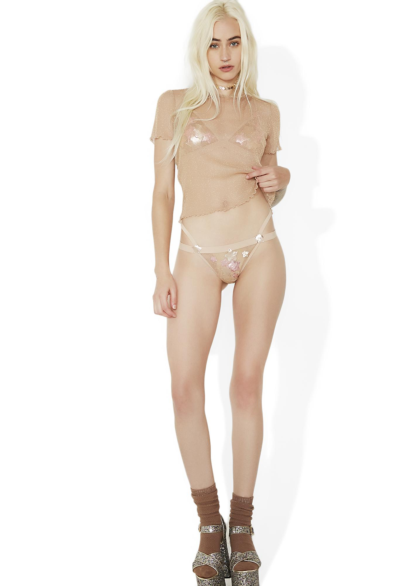 For Love & Lemons Constellation Thong