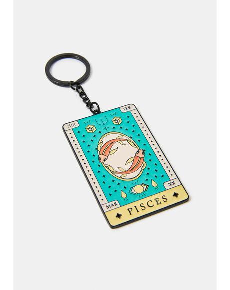 Creative Pisces Zodiac Keychain