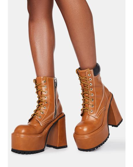 Lady Boss Combat Boots