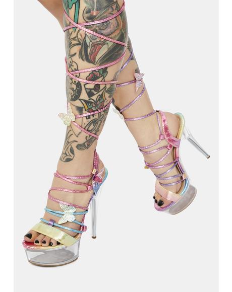 Rainbow Next Level Hottie Platform Heels