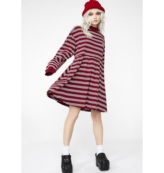 Lazy Oaf Stripy Long Sleeve Sally Dress