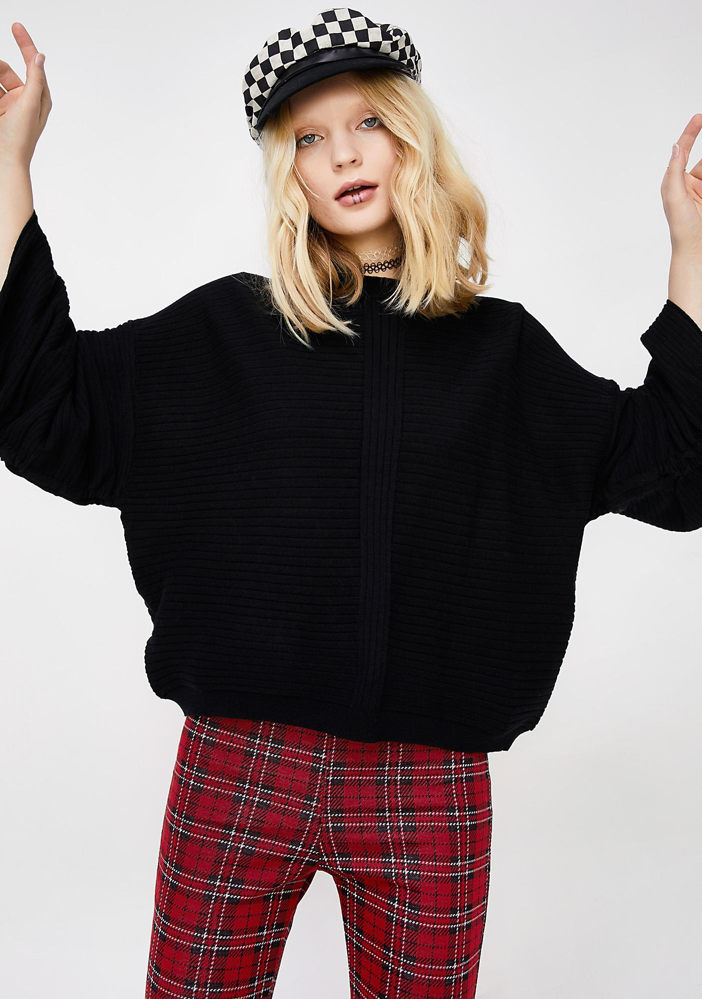Nobody's Home Ribbed Sweater